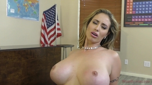 Blonde hair Eva Notty rushes ramming hard in sexy lingerie HD