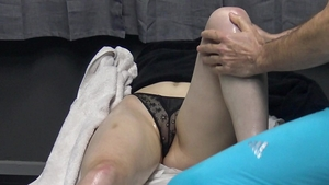 Shaved very sexy supermodel voyeur seduce in the bed