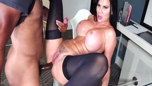 Busty latina police chick receives nailed rough
