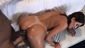Ramming hard escorted by brunette