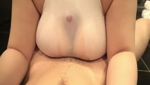 Hard sex in the company of big boobs japanese amateur