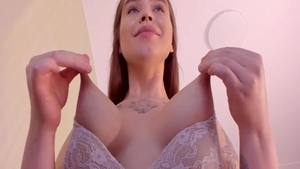 Busty horny amateur fetish masturbation on webcam