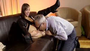 Young Tina Hot interracial fucking on the couch