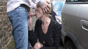 Loud sex accompanied by skinny french amateur