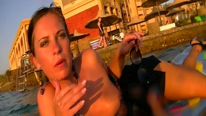 Raw sex in company with sexy mature