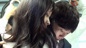 Beautiful asian voyeur gets plowed