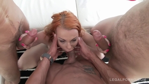 Hard ramming together with blonde haired Rebecca Sharon
