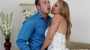 Large tits & gorgeous bride getting a facial