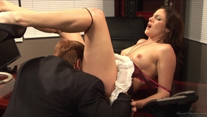 Rides a hard dick in office HD
