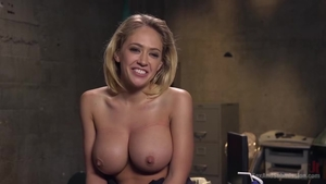 Huge tits blonde hair Kagney Linn wishes for BDSM in HD