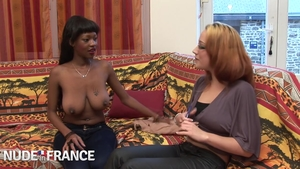 Rough nailing in company with large tits ebony brunette