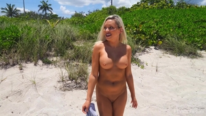 Large tits stepmom flashing outdoors in HD