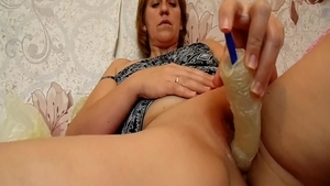 Passionate classy slut romantic playing with toys in HD