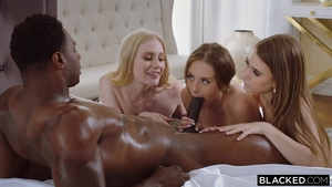 Teen chick Emma Star in the company of Kyler Quinn group sex