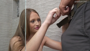 Rough nailing escorted by shaved brunette Cara Danvers