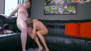 Fat deutsch blonde haired really likes ramming hard