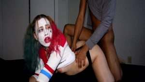 Doggystyle accompanied by perfect body pawg Harley Quinn