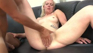 Passionate & super cute MILF rough pussy eating
