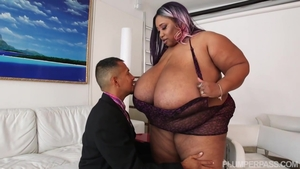 Along with large tits ebony BBW Candy Cotton