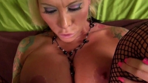 Inked blonde babe helps with pussy sex in HD
