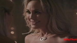 'SillyThots.com - Two nasty blond MILFs Bring Each Other To orgasm'