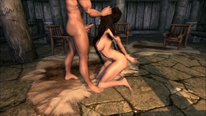 Muscled hairy celebrity skyrim footjob on Halloween HD
