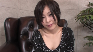 Solo classy Saki Ootsuka asian female playing with toys