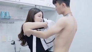 Hardcore sex accompanied by very cute japanese babe