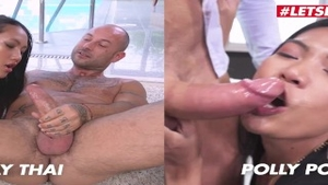 Asian slut Polly Pons gets a buzz out of the best sex