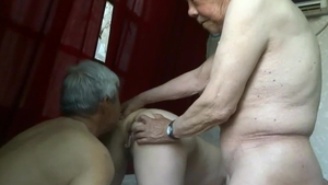 Saggy tits asian granny lusts homemade threesome HD
