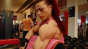 Real sex together with muscle female