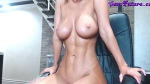 Large boobs girl moaning live on webcam