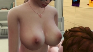 Horny and big boobs married babe caught blowjobs in public