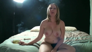 Large tits Jules Sterling smoking