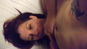 Tattooed amateur fucking with big cock daddy