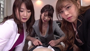 Asian student cumshot in office in HD