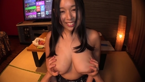 Exotic babe asian riding huge dildo