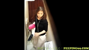 Very nice asian girl need voyeur fucking in the store in HD