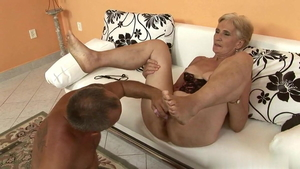 Hairy blonde feels the need for pussy sex HD
