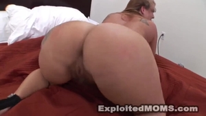 Blowjobs along with big tits redhead in trousers in HD