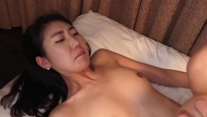 Hard pounding in company with korean mature