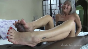 Petite mature gets a buzz out of hard nailining