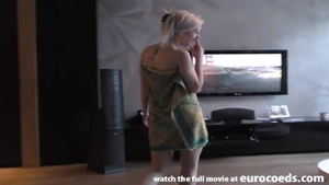 Pretty blonde haired agrees to real sex
