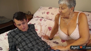 Aged young stepmom in the underwear hardcore fun with toys