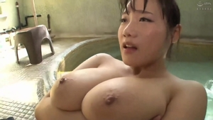 Nailing in company with big boobs asian MILF