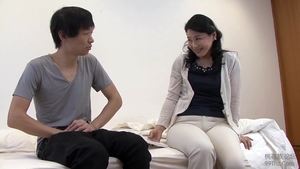 Hairy asian stepmom goes for nailed rough HD