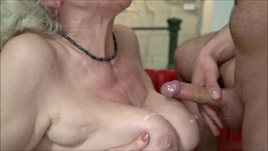 Rough nailing accompanied by large tits MILF