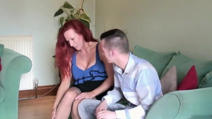 Huge tits redhead hard blowjobs seduce HD