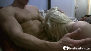 Loud sex with wet blonde haired