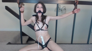 Skinny girl homemade bondage